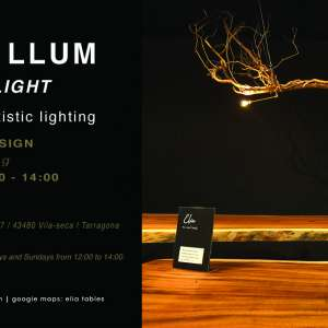 FUSTA & LLUM / WOOD & LIGHT - tables & artistic lighting